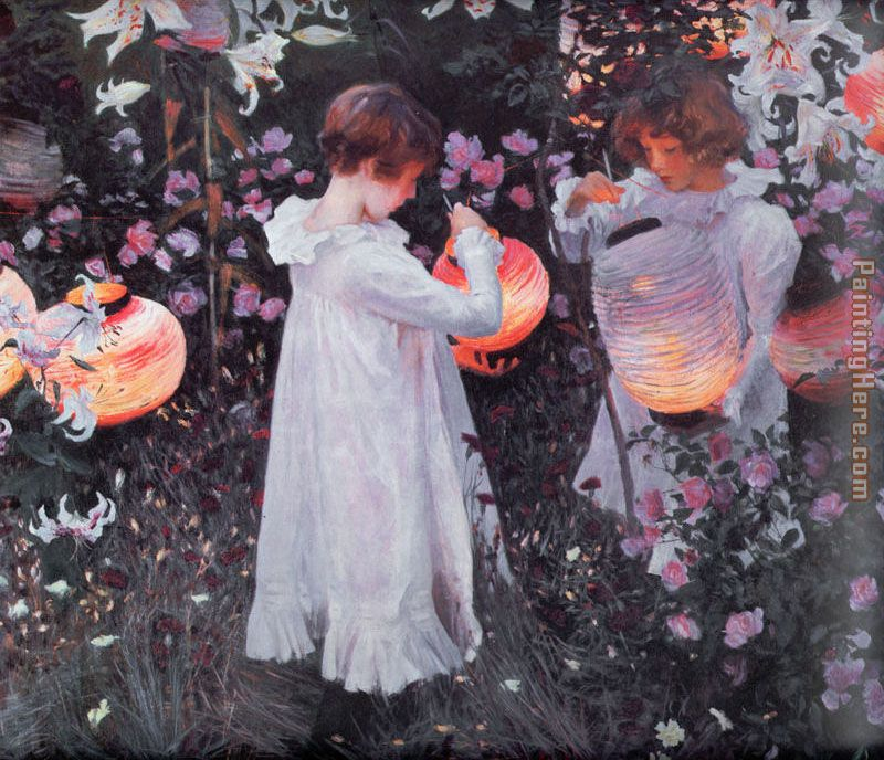 Carnation, Lily, Lily, Rose painting - John Singer Sargent Carnation, Lily, Lily, Rose art painting