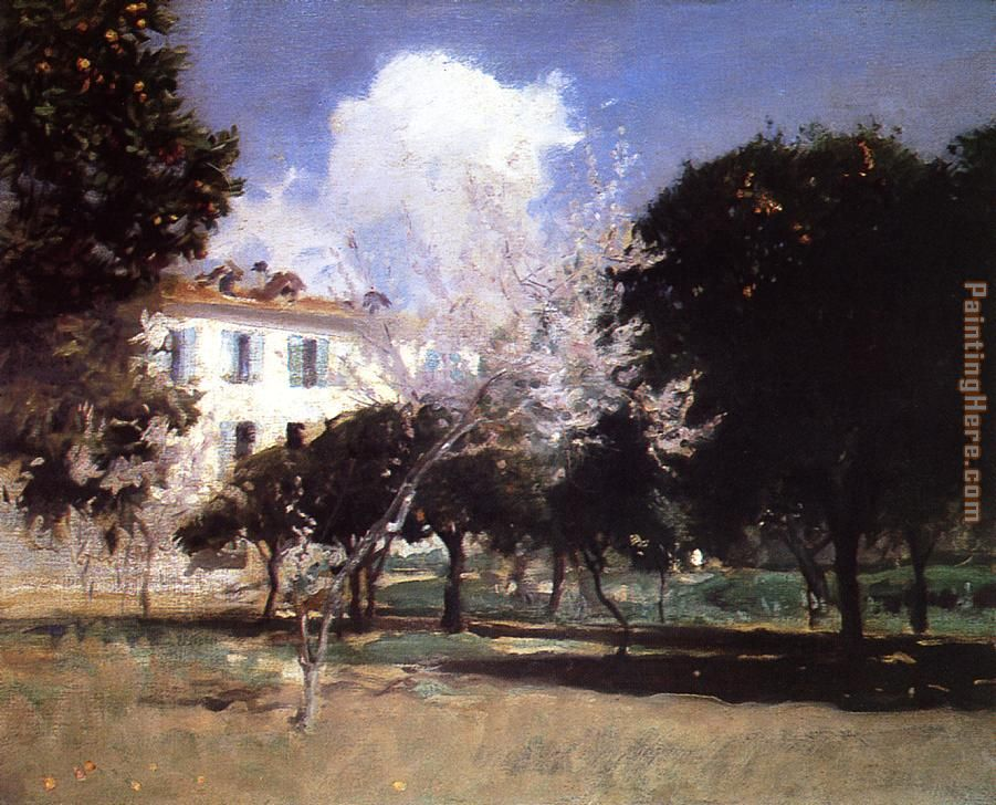 House and Garden painting - John Singer Sargent House and Garden art painting