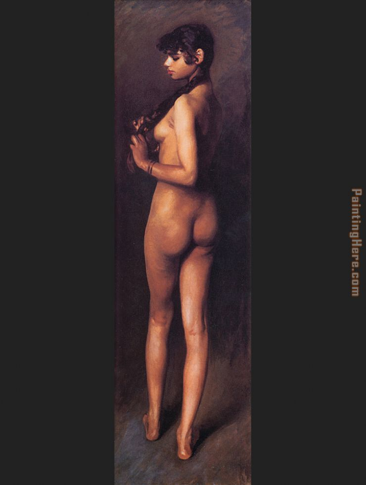 Nude Egyptian Girl painting - John Singer Sargent Nude Egyptian Girl art painting
