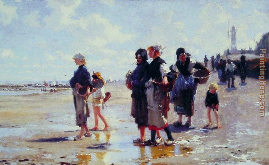 John Singer Sargent Oyster Gatherers of Cancale Art Painting