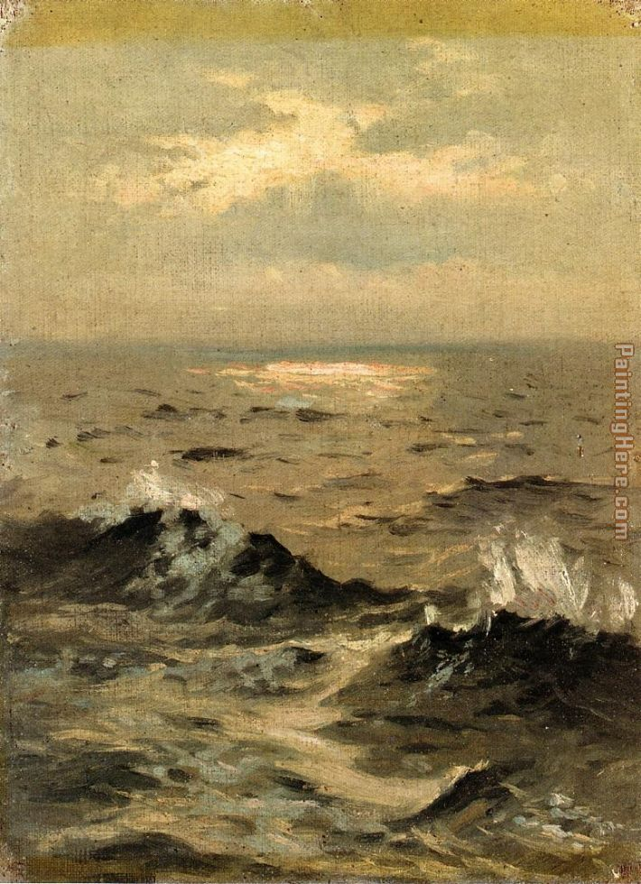 Seascape painting - John Singer Sargent Seascape art painting
