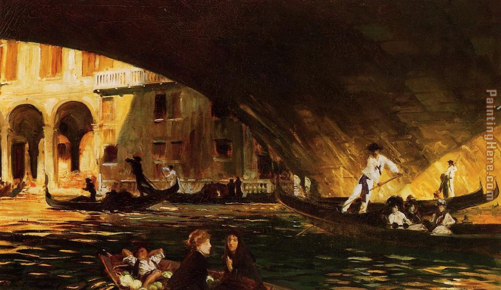 John Singer Sargent The Rialto Art Painting