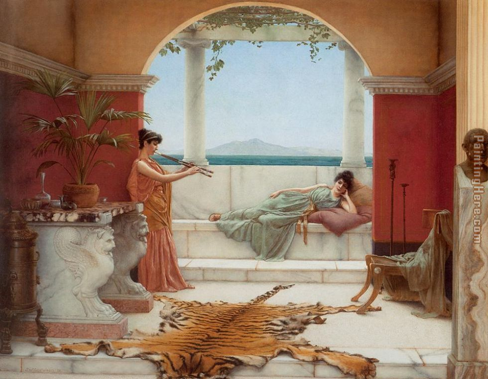 The Sweet Siesta of a Summer Day painting - John William Godward The Sweet Siesta of a Summer Day art painting