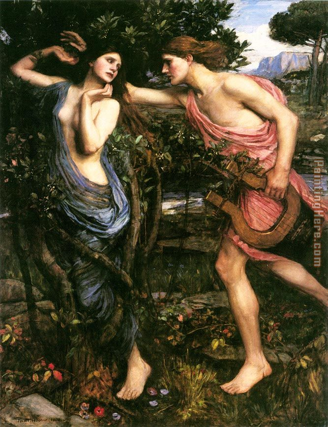 Apollo and Daphne painting - John William Waterhouse Apollo and Daphne art painting