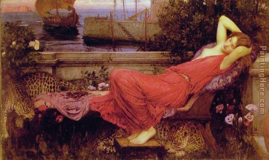 Ariadne painting - John William Waterhouse Ariadne art painting