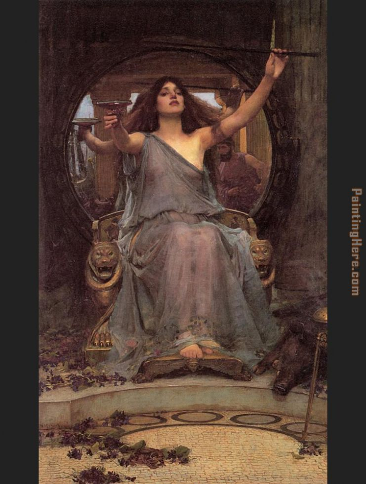 Circe offering the Cup to Ulysses painting - John William Waterhouse Circe offering the Cup to Ulysses art painting