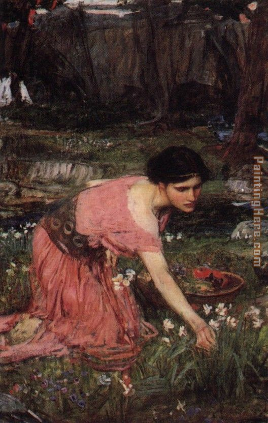 Flora painting - John William Waterhouse Flora art painting