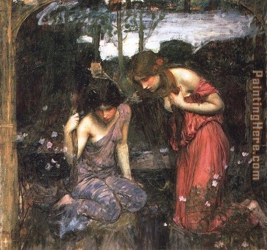Nymphs Finding the Head of Orpheus painting - John William Waterhouse Nymphs Finding the Head of Orpheus art painting
