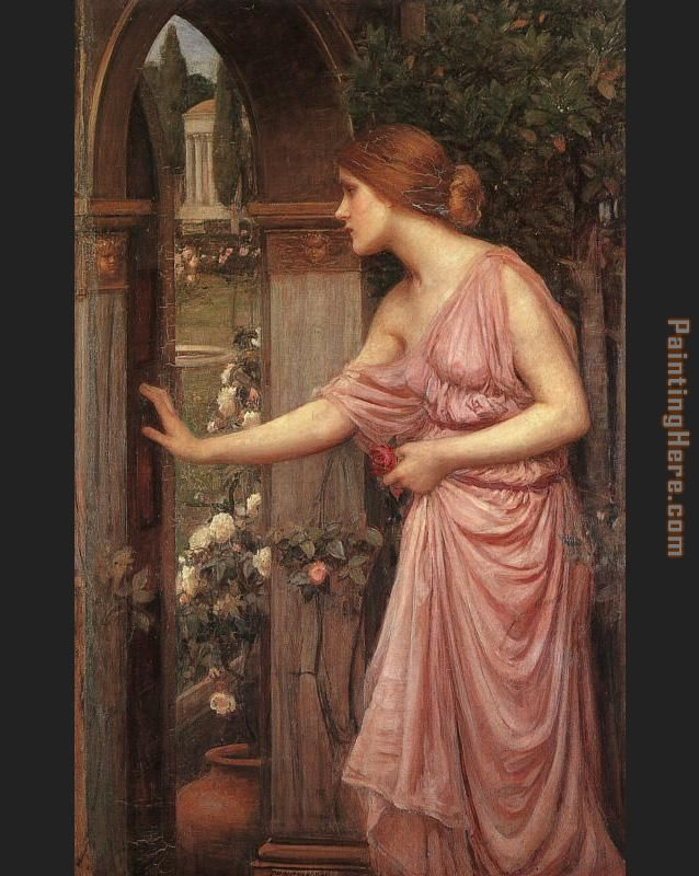Psyche Entering Cupid's Garden painting - John William Waterhouse Psyche Entering Cupid's Garden art painting