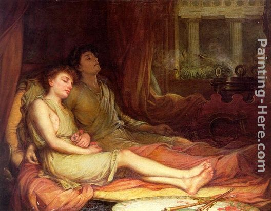 Sleep and His Half Brother Death painting - John William Waterhouse Sleep and His Half Brother Death art painting