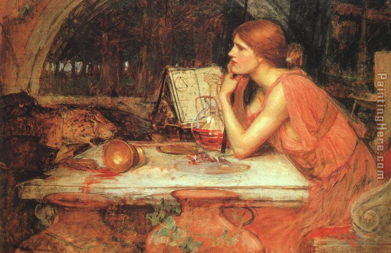 The Sorceress painting - John William Waterhouse The Sorceress art painting