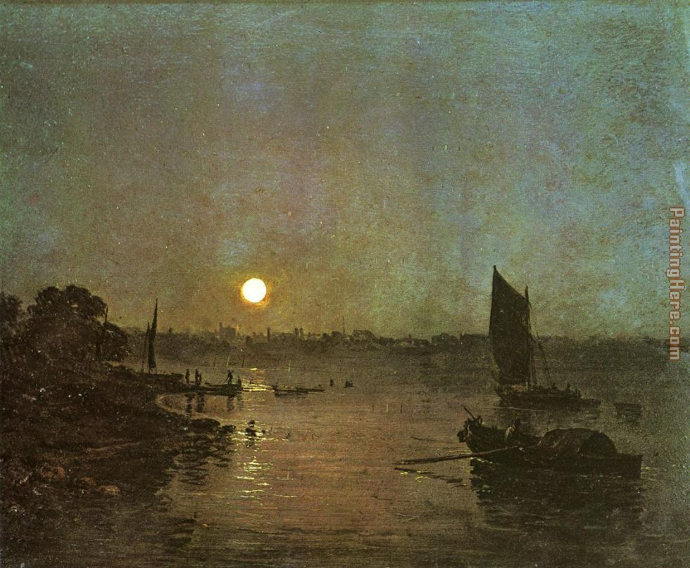Moonlight A Study at Millbank painting - Joseph Mallord William Turner Moonlight A Study at Millbank art painting
