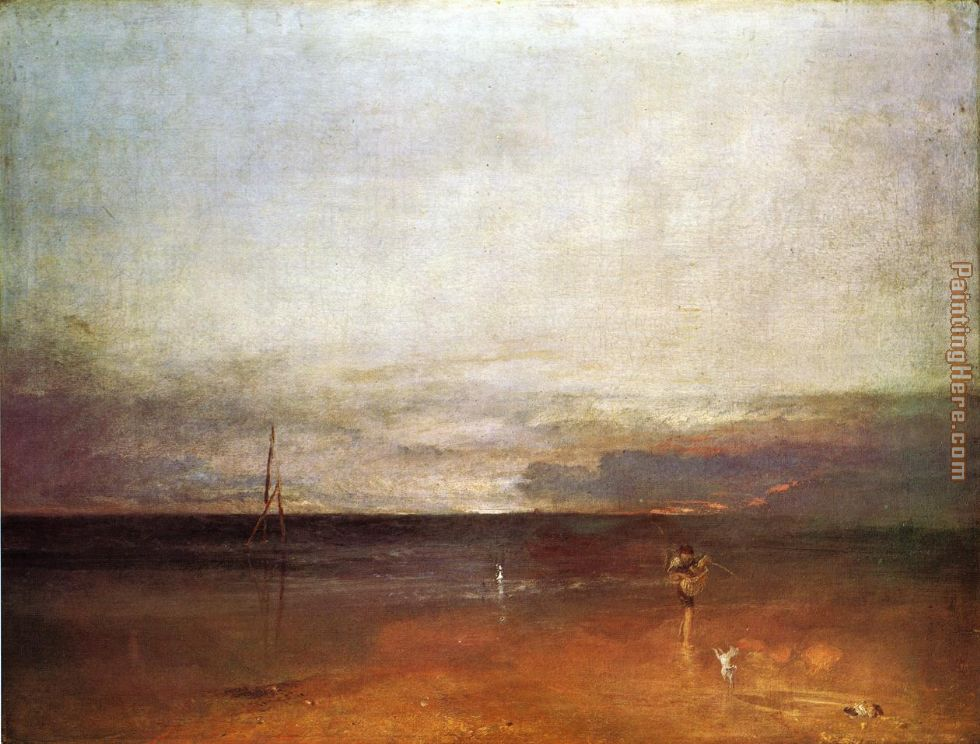 Rocky Bay with Figures 1 painting - Joseph Mallord William Turner Rocky Bay with Figures 1 art painting