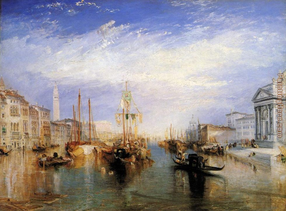 The Grand Canal Venice painting - Joseph Mallord William Turner The Grand Canal Venice art painting