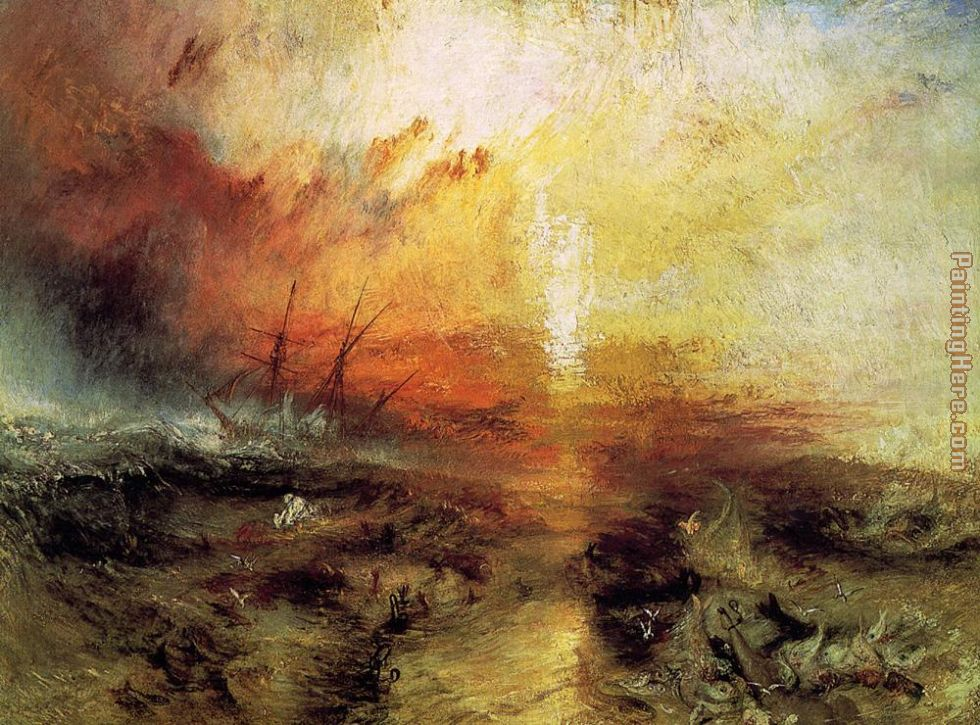 The Slave Ship painting - Joseph Mallord William Turner The Slave Ship art painting