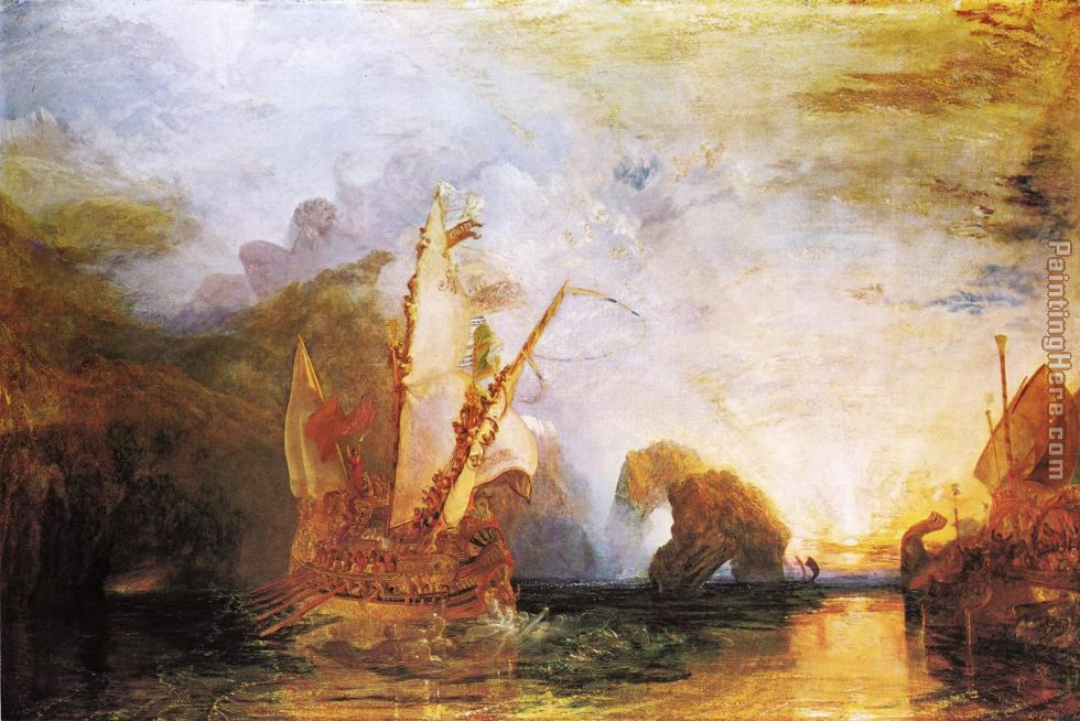 Joseph Mallord William Turner Ulysses Deriding Polyphemus Homer's Odyssey Art Painting
