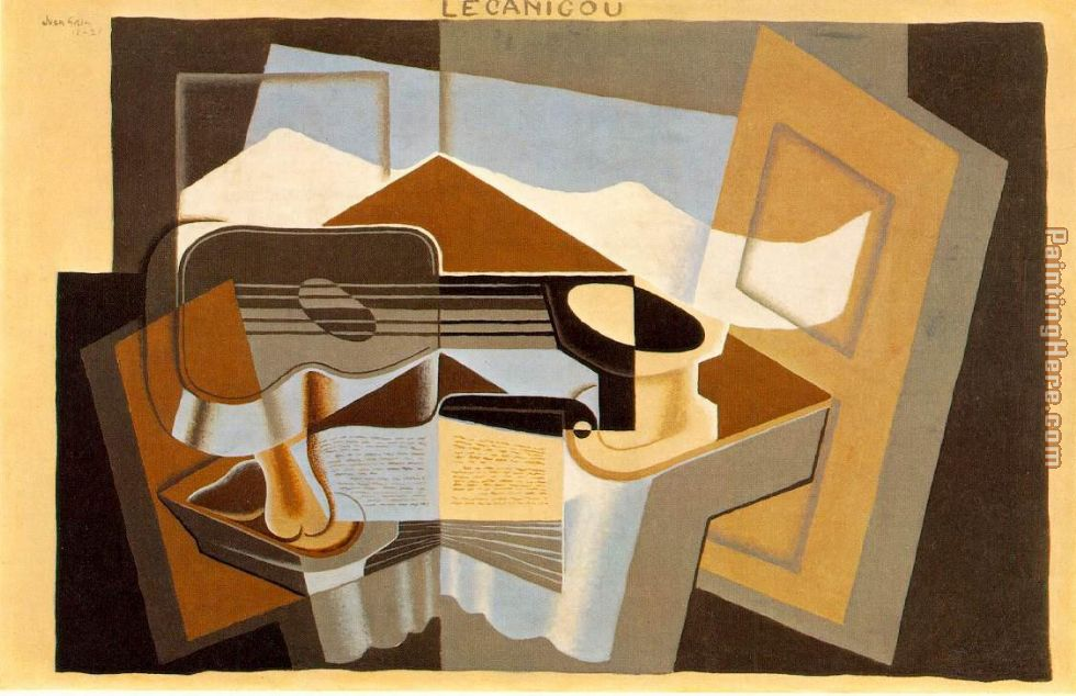 The Mountain Le Canigou painting - Juan Gris The Mountain Le Canigou art painting