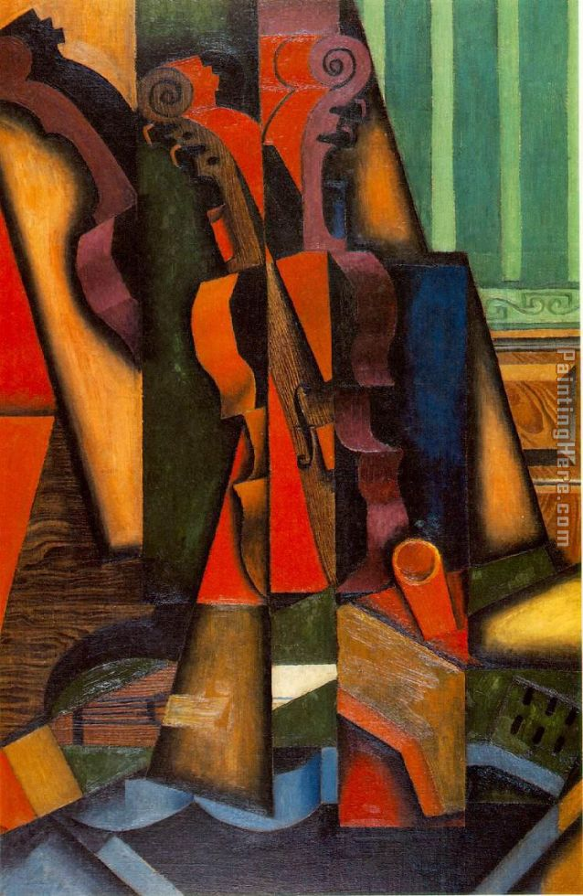 Violin and Guitar painting - Juan Gris Violin and Guitar art painting