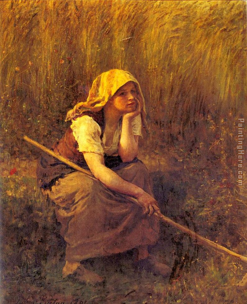 Jules Breton Summer Art Painting