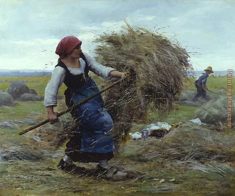 Harvest Time painting - Julien Dupre Harvest Time art painting