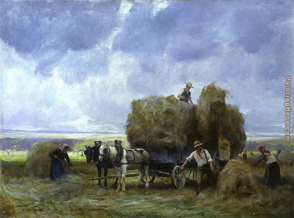 Harvesters Loading the Cart painting - Julien Dupre Harvesters Loading the Cart art painting