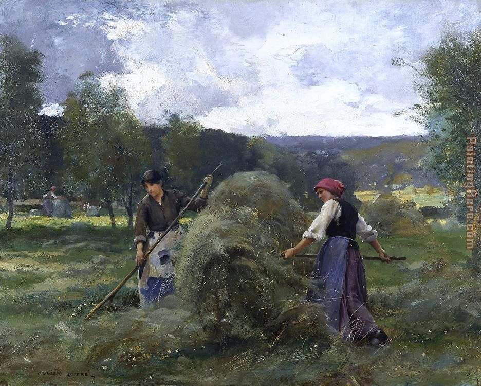 Haying painting - Julien Dupre Haying art painting