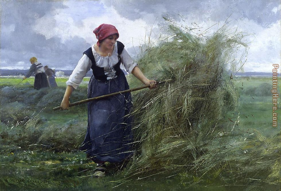 The Wheatfield painting - Julien Dupre The Wheatfield art painting