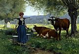 Milkmaid with Cows 2
