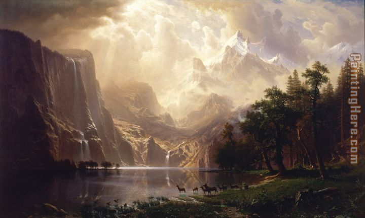 Albert Bierstadt Among the Sierra Nevada, California painting - Kirill Albert Bierstadt Among the Sierra Nevada, California art painting