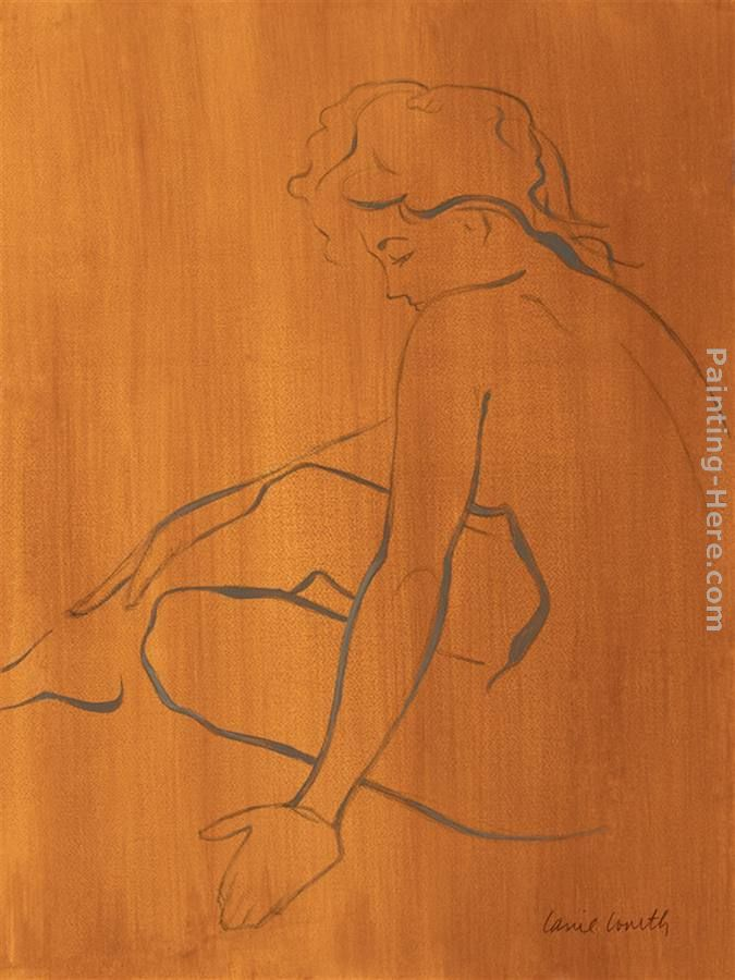 Lanie Loreth Seated Female Figure Art Painting