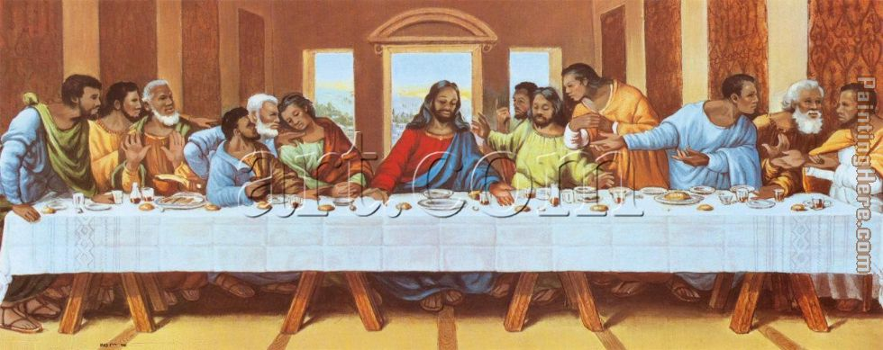 large picture of the last supper painting - Leonardo da Vinci large picture of the last supper art painting