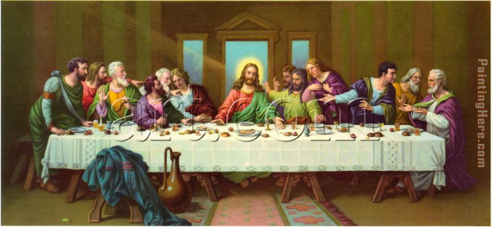 picture of last supper painting - Leonardo da Vinci picture of last supper art painting