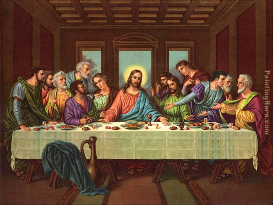 picture of the last supper II painting - Leonardo da Vinci picture of the last supper II art painting