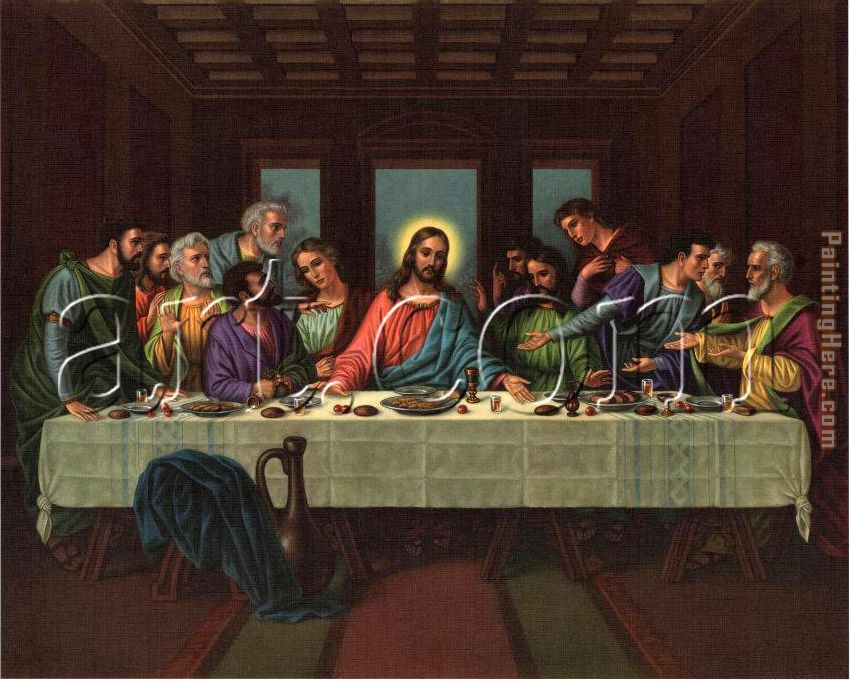 picture of the last supper painting - Leonardo da Vinci picture of the last supper art painting