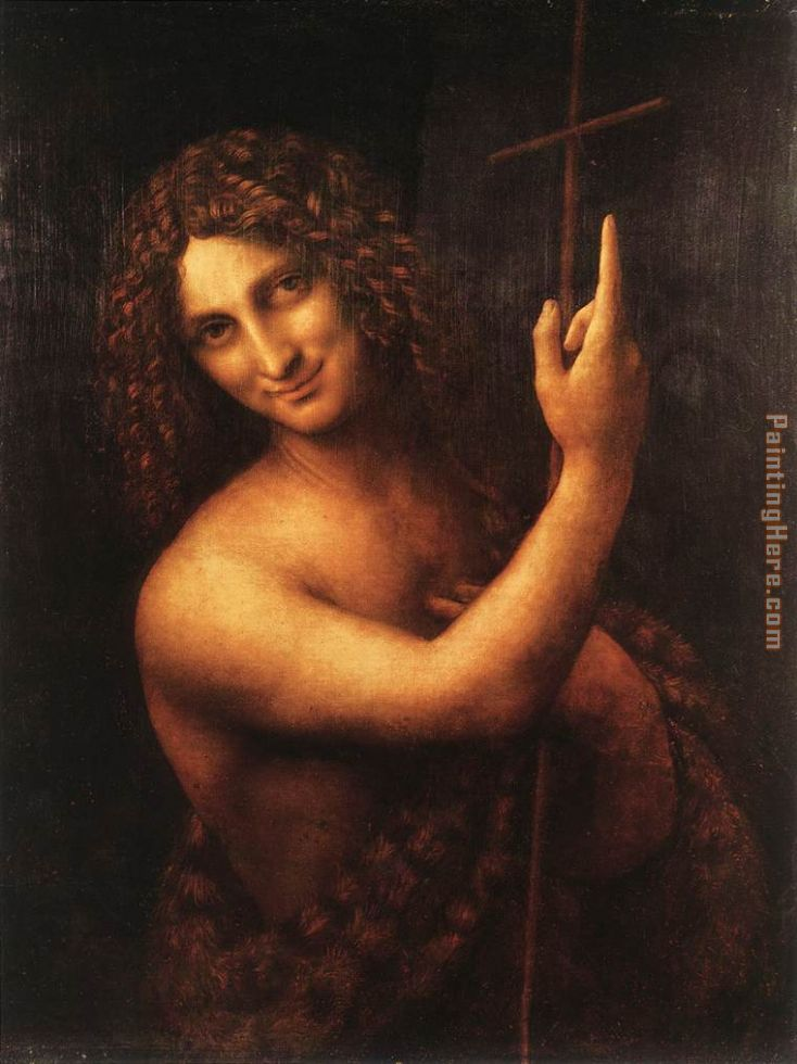 Leonardo da Vinci St John the Baptist Art Painting