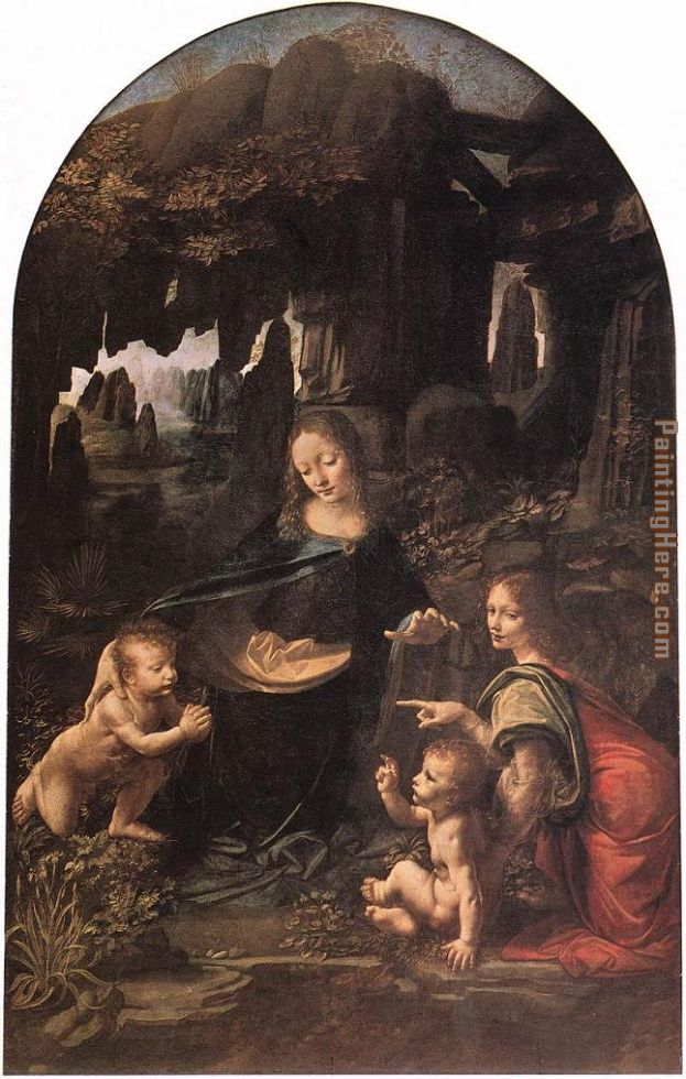 Virgin of the Rocks painting - Leonardo da Vinci Virgin of the Rocks art painting