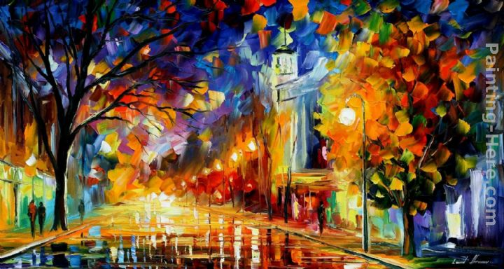 CITY OF JOY painting - Leonid Afremov CITY OF JOY art painting