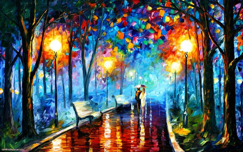 MISTY MOOD painting - Leonid Afremov MISTY MOOD art painting