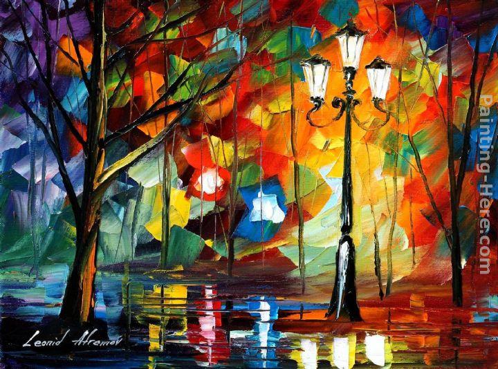 Leonid Afremov The Soul Of The Park Painting Anysize 50