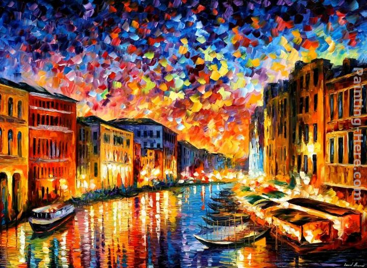 Leonid Afremov VENICE - GRAND CANAL Art Painting