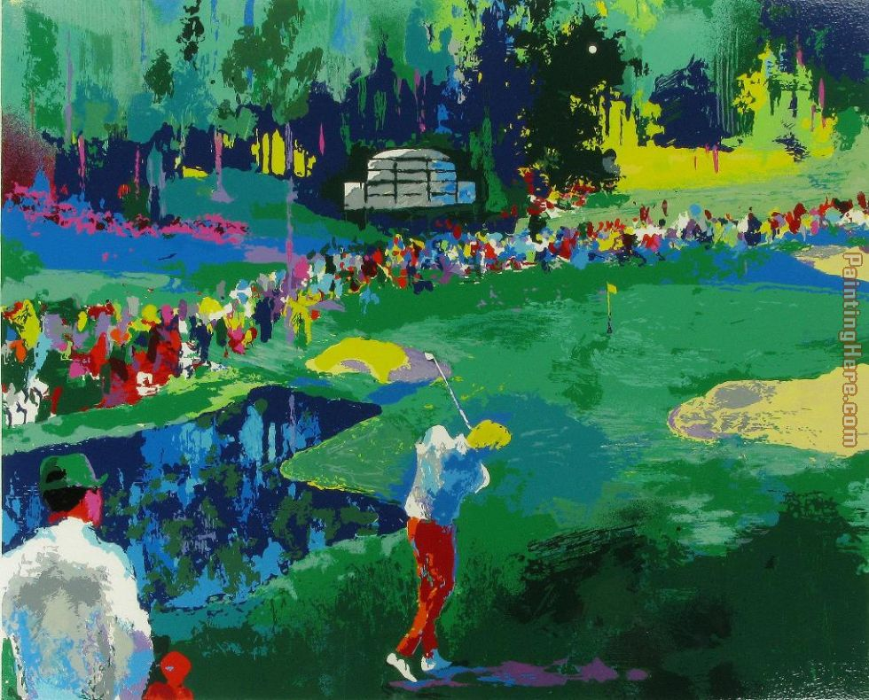 16th at Augusta painting - Leroy Neiman 16th at Augusta art painting