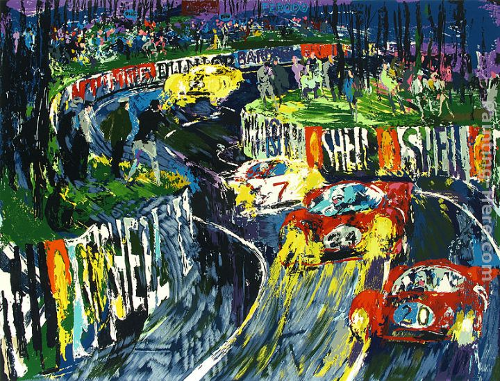 24 Hours at LeMans painting - Leroy Neiman 24 Hours at LeMans art painting