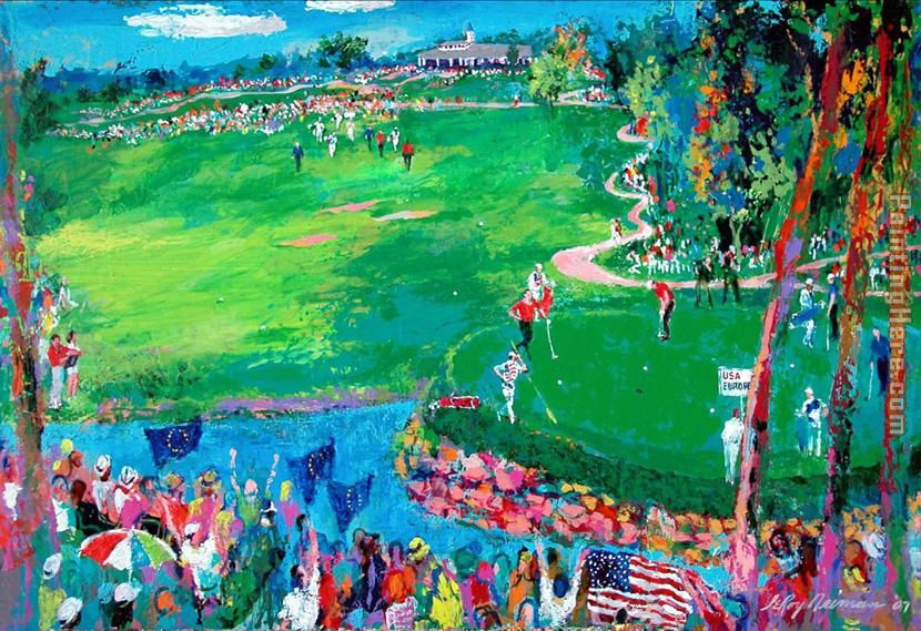 37th Ryder Cup painting - Leroy Neiman 37th Ryder Cup art painting
