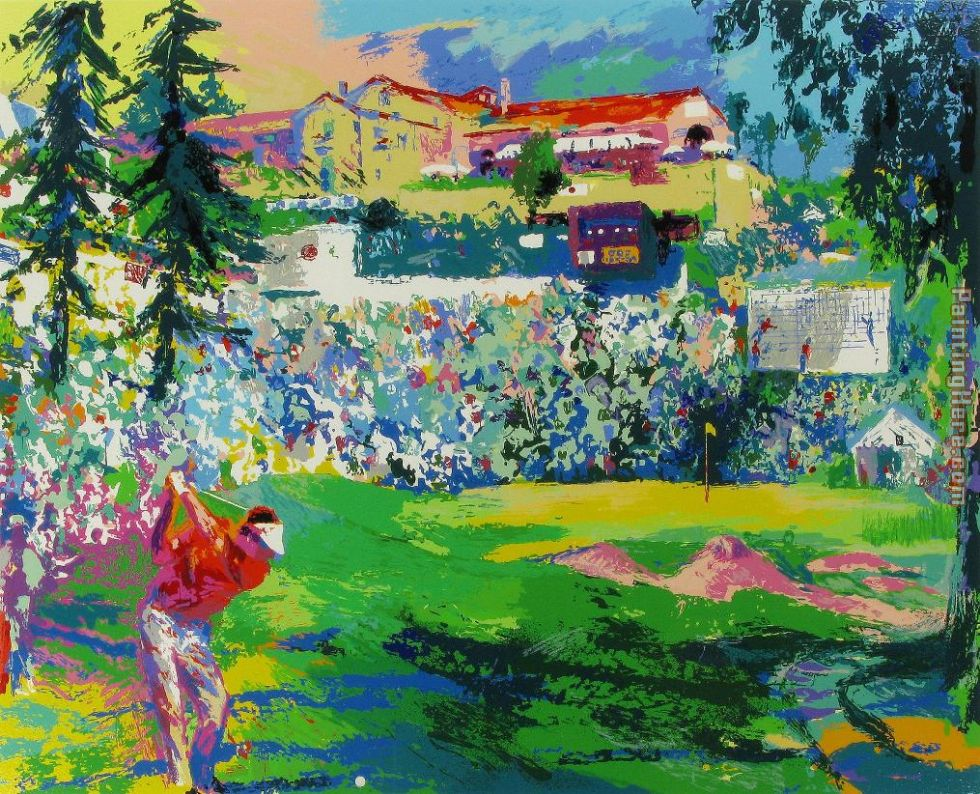 Amphitheatre at Rivera painting - Leroy Neiman Amphitheatre at Rivera art painting