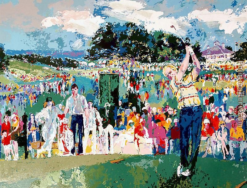 Leroy Neiman April at Augusta Art Painting