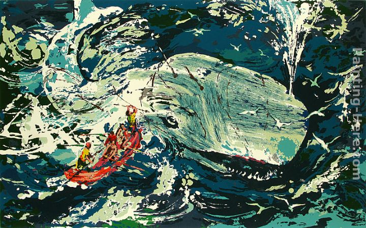 Blue Whale Moby Dick Suite painting - Leroy Neiman Blue Whale Moby Dick Suite art painting