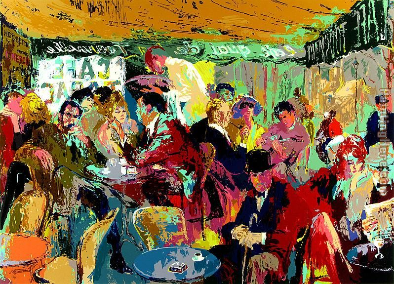 leroy neiman cafe rive gauche painting anysize 50 off cafe rive gauche painting for sale. Black Bedroom Furniture Sets. Home Design Ideas