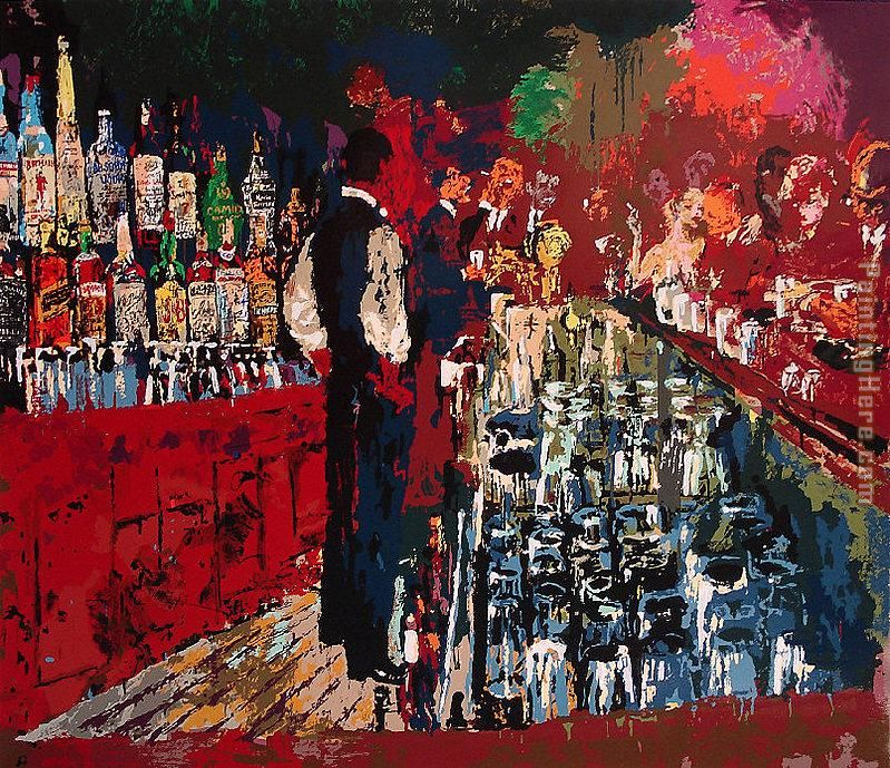 Leroy Neiman Chicago Key Club Bar Art Painting