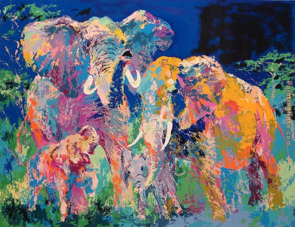 Elephant family painting - photo#1