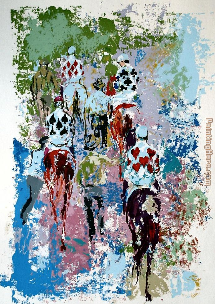 Four Aces painting - Leroy Neiman Four Aces art painting